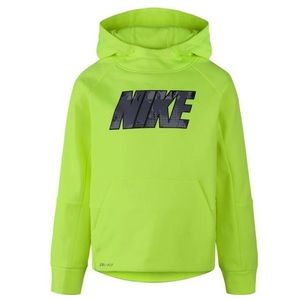 Nike NWT boy's 6 therma-fit neon volt sweatshirt